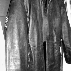 Wilson xl belted leather jacket